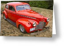 1940 Chevrolet 2 Door Sedan Greeting Card
