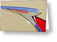1940 Chevrolet Pickup Hood Ornament 2 Greeting Card