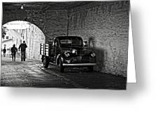 1940 Chevrolet Pickup Truck In Alcatraz Prison Greeting Card by RicardMN Photography