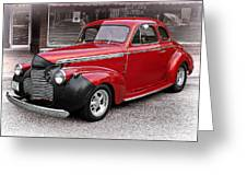 1940 Chevy Coupe Greeting Card