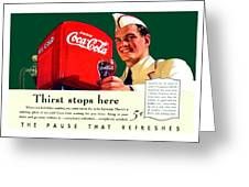 1940 - Coca-cola Advertisement - Color Greeting Card
