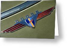 1940 Dodge Nameplate Greeting Card