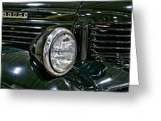 1940 Dodge Pickup Headlight Grill Greeting Card