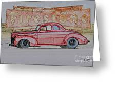 1940 Ford Coupe Illustration Greeting Card