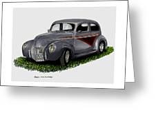 1940 Ford Custom Street Rod Greeting Card