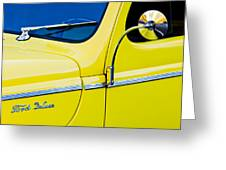 1940 Ford Deluxe Side Emblem Greeting Card