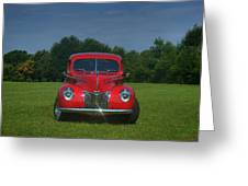 1940 Ford Deluxe  Greeting Card