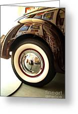 Classic Maroon 1940 Ford Rear Fender And Wheel   Greeting Card