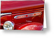 1940 Gmc Side Emblem Greeting Card