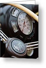1938 Lincoln-zephyr Continental Cabriolet Steering Wheel Emblem -1817c Greeting Card