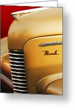 1940 Nash Sedan Grille Greeting Card
