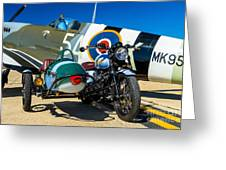 1940 Triumph And Supermarine Mk959 Spitfire  Greeting Card
