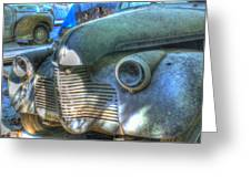 1940s Antique Chevrolet Hood View Greeting Card