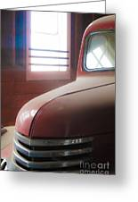 1940s Era Red Chevrolet Truck  Greeting Card