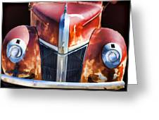 1940s Ford Grill Greeting Card