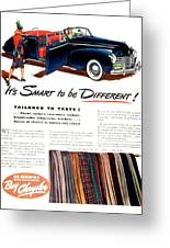 1941 - Chrysler Convertible Automobile Advertisement - Color Greeting Card
