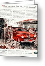 1941 - Ford Super Deluxe Automobile Advertisement - Color Greeting Card