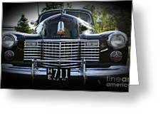 1941 Cadillac Front End Greeting Card