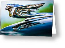 1941 Cadillac Hood Ornament 5 Greeting Card