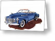 1941 Cadillac Series 62 Convertible Greeting Card