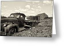1941 Chevy Truck In Sepia Greeting Card