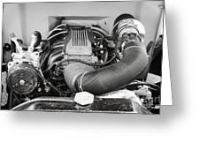 1941 Ford Pickup Engine Motor  Classic Automobile In Sepia 3082.01 Greeting Card