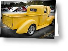 1941 Ford Pickup Truck Side View  Classic Automobile In Color 30 Greeting Card
