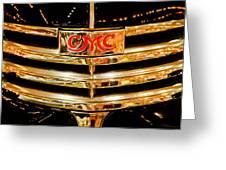1941 Gmc Suburban Woody Wagon Grille Emblem Greeting Card