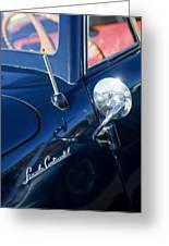 1941 Lincoln Continental Convertible Emblem Greeting Card