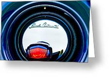 1941 Lincoln Continental Spare Tire Emblem - 1963c Greeting Card
