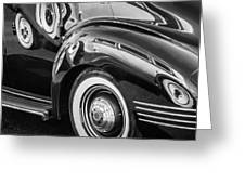 1941 Packard 110 Deluxe -1092bw Greeting Card