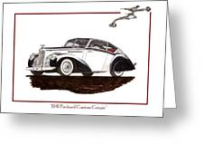 Packard Custom Coupe 120 Greeting Card