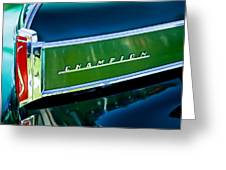 1941 Sudebaker Champion Coupe Emblem Greeting Card by Jill Reger