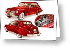 1941 V 12  Lincoln Continental Greeting Card