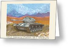 1941 W W I I Patton Tank Greeting Card