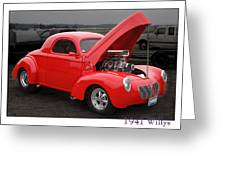 1941 Willys Greeting Card