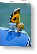 1942 Lincoln Continental Cabriolet Hood Ornament Greeting Card