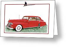 1942 Lincoln Continental Coupe Greeting Card
