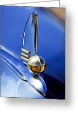 1942 Lincoln Zephyr 12 Hood Ornament Greeting Card