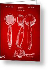 1944 Microphone Patent Red Greeting Card