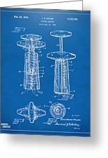 1944 Wine Corkscrew Patent Artwork - Blueprint Greeting Card