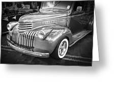 1946 Chevrolet Sedan Panel Delivery Truck Bw Greeting Card