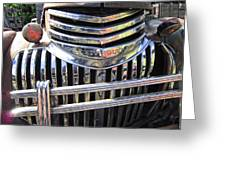 1946 Chevrolet Truck Chrome Grill Greeting Card
