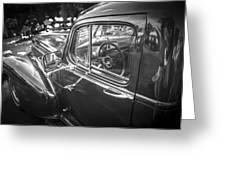 1946 Hudson Super Six Sedan Bw Greeting Card
