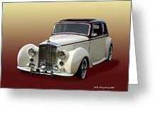 1947 Bentley M K  5   G T X  Greeting Card