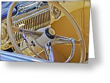 1947 Cadillac 62 Steering Wheel Greeting Card