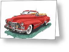 Cadillac Series 62 Convertible Greeting Card