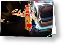 1947 Chrysler New Yorker Town And Country Convertible Emblem Greeting Card