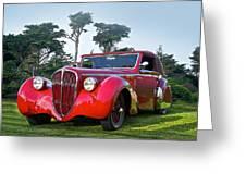 1947 Delahaye 135m Pennock Cabriot II Greeting Card