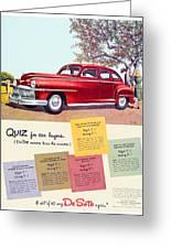 1947 - Desoto Automobile Advertisement - Color Greeting Card